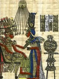King Tut receiving an essential oil treatment
